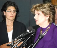 Rene Sandler and Gloria Allred